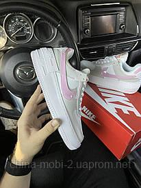Nike Air Force Shadow Grey Pink (Серый)