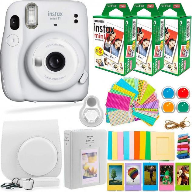 Камера Моментальної Друку Fujifilm Instax Mini 11 Camera White з 3 Плівками Fujifilm Instant Film і Набором