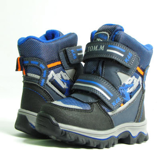 Зимние ботинки дутики термо ТОМ. М  5731Д синий. Размер 26
