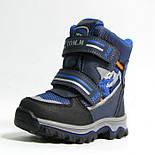 Зимние ботинки дутики термо ТОМ. М  5731Д синий. Размер 26, фото 2