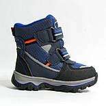 Зимние ботинки дутики термо ТОМ. М  5731Д синий. Размер 26, фото 4