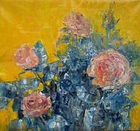 Картина цветы «Розы» (купить картину для дома, декорирование дома)