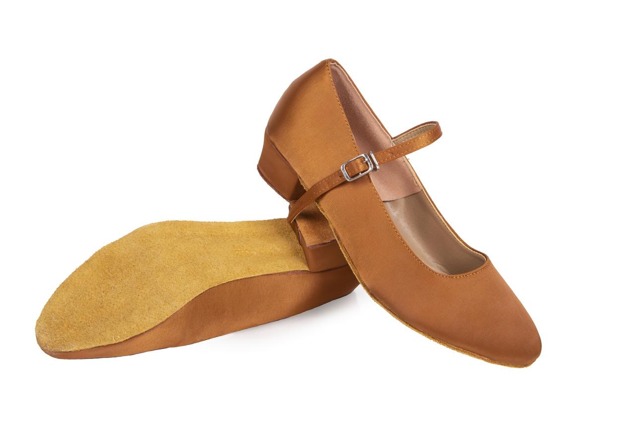 Туфли атласные для бальных танцев Rivage Line A1101, золотые