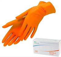 Нитриловые перчатки Polix Orange М