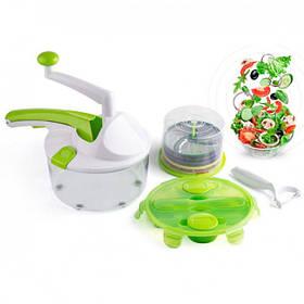 Овочерізка Roto Champ PRO | Подрібнювач для овочів, ручної кухонний комбайн (Рото чамш)
