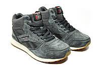 Зимние ботинки (НА МЕХУ) Reebok Classic  [42]  2-155. Мужские кожаные кроссовки. Мужская зимняя обувь