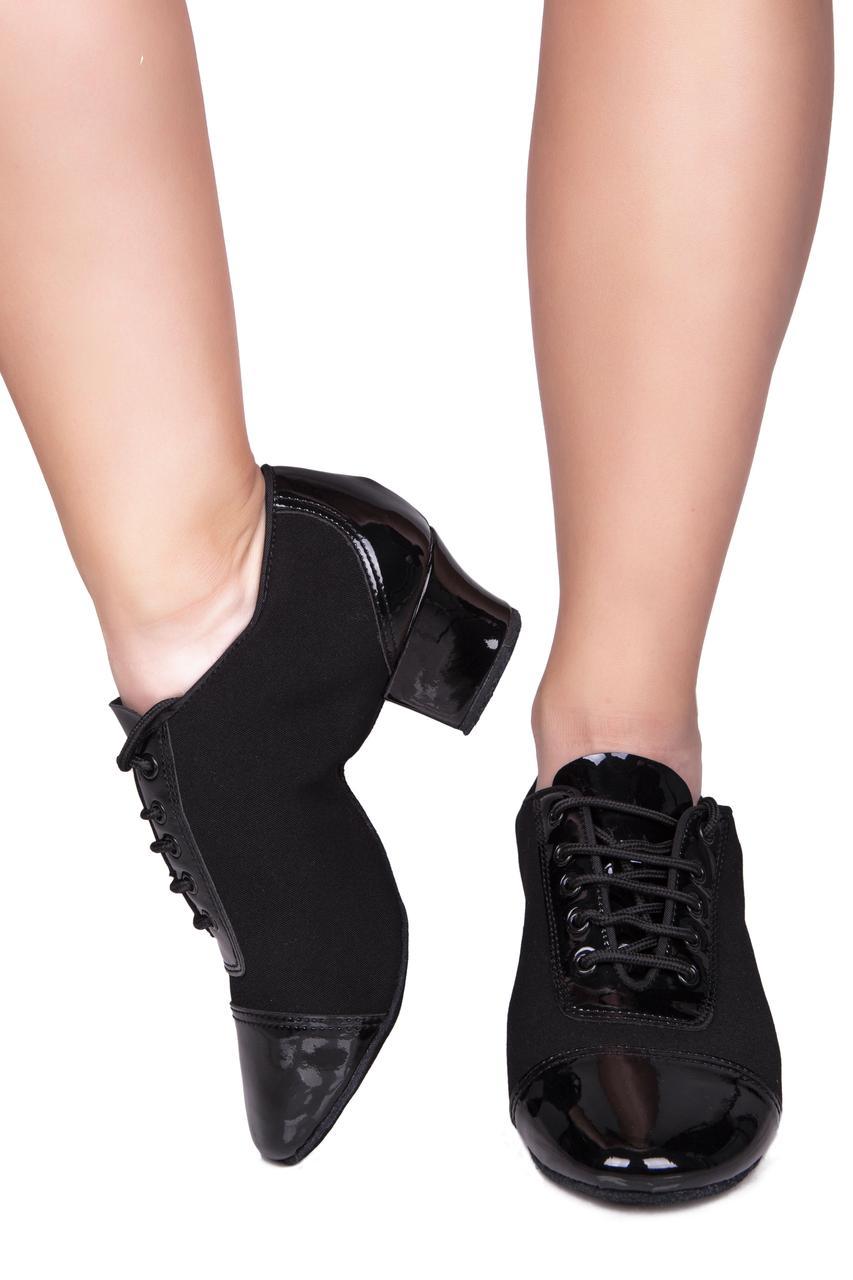 Туфли тренировочные на каблуке SASAN 7928 черный
