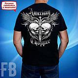 Мужская светящаяся футболка с черепом Amerikan Chopper размер M, фото 2
