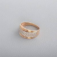 Золотое кольцо с фианитами КП1621