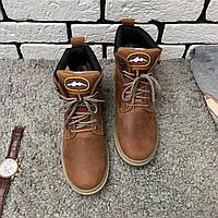 Зимние ботинки (на меху) Switzerland 13025  [ 41,42,43,45 ]. Мужские кожаные кроссовки. Мужская зимняя обувь