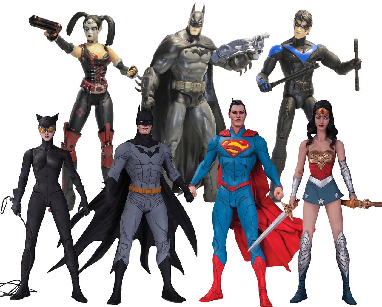 Набор фигурок DC Comics, Лига Справедливости + Аркхэм сити, 17 см - Justice League & Arkham City, by Jae Lee