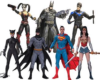 Набір фігурок DC Comics, Ліга Справедливості + Аркхем сіті, 17 см - Justice League & Arkham City, by Lee Jae