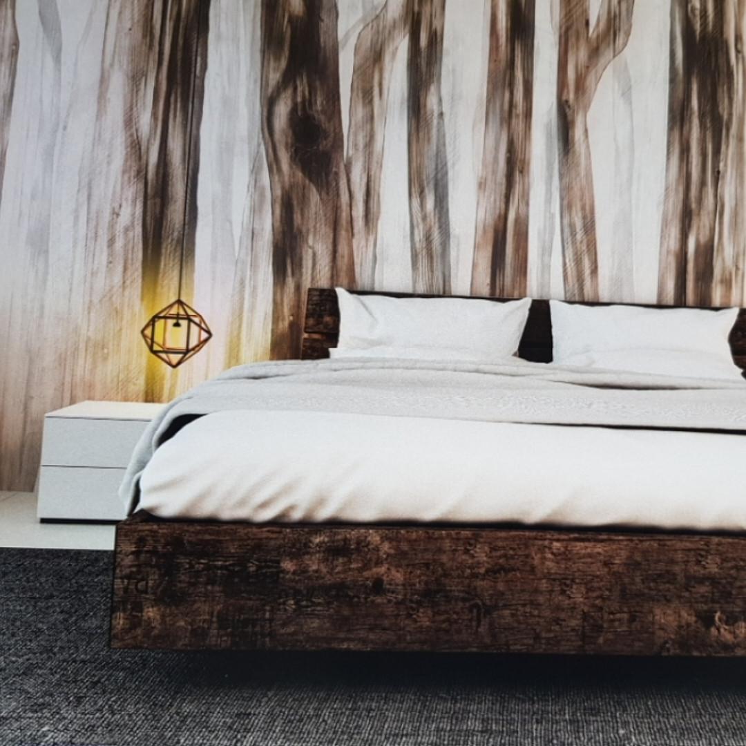 Фотообои бесшовные флизелиновые экологически чистые Sleepy forest  лофт абстракция под дерево коричневые