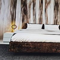 Фотообои бесшовные флизелиновые экологически чистые Sleepy forest  лофт абстракция под дерево коричневые, фото 1
