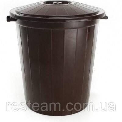 """Бак мусорный 65л """"Горизонт"""" 02043 коричневый"""
