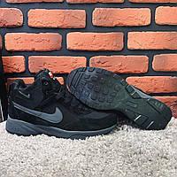 Зимние ботинки (на меху) Nike Air 1-043 [ 42.43,43,45,46 ]. Мужские кожаные кроссовки. Мужская зимняя обувь