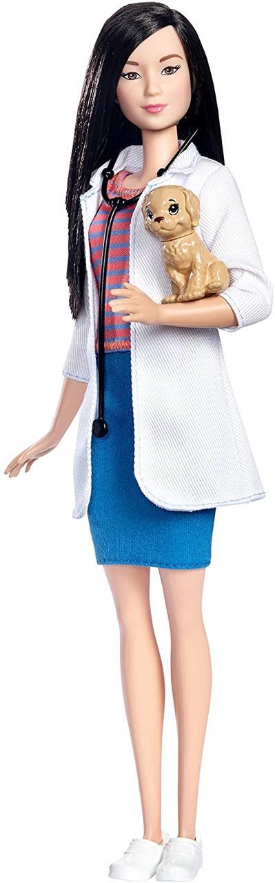 Кукла Барби Профессии Ветеринар с питомцем Barbie I Can Be Mattel DVF58
