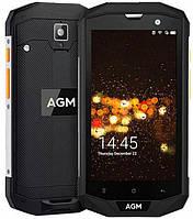 Защищенный телефон  AGM A8 3/32Gb Black противоударный водонепроницаемый смартфон, фото 1