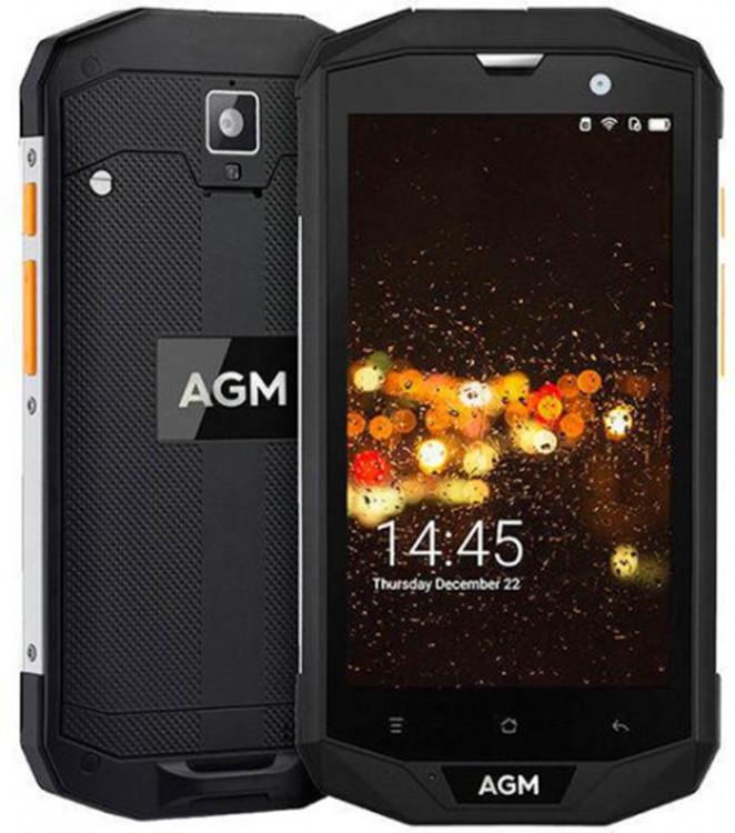 Защищенный телефон  AGM A8 3/32Gb Black противоударный водонепроницаемый смартфон