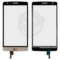 Touchscreen (сенсорный экран) для LG Optimus G3s D724, золотой, оригинал
