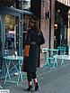 Бавовняне жіноче пальто кольору охри, розміри 42-46, фото 3