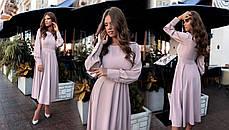 Платье БАТАЛ миди шелк в расцветках 523155А, фото 2