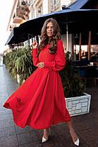 Платье БАТАЛ миди шелк в расцветках 523155А, фото 3