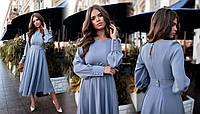 Платье БАТАЛ миди шелк в расцветках 523155А