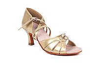 Босоножки для бальных танцев S 100D 5,5 см каблук Золото
