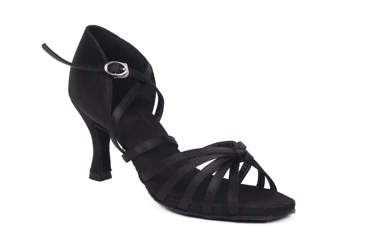 Босоножки для бальных танцев A 2100 7,5 см каблук Черный