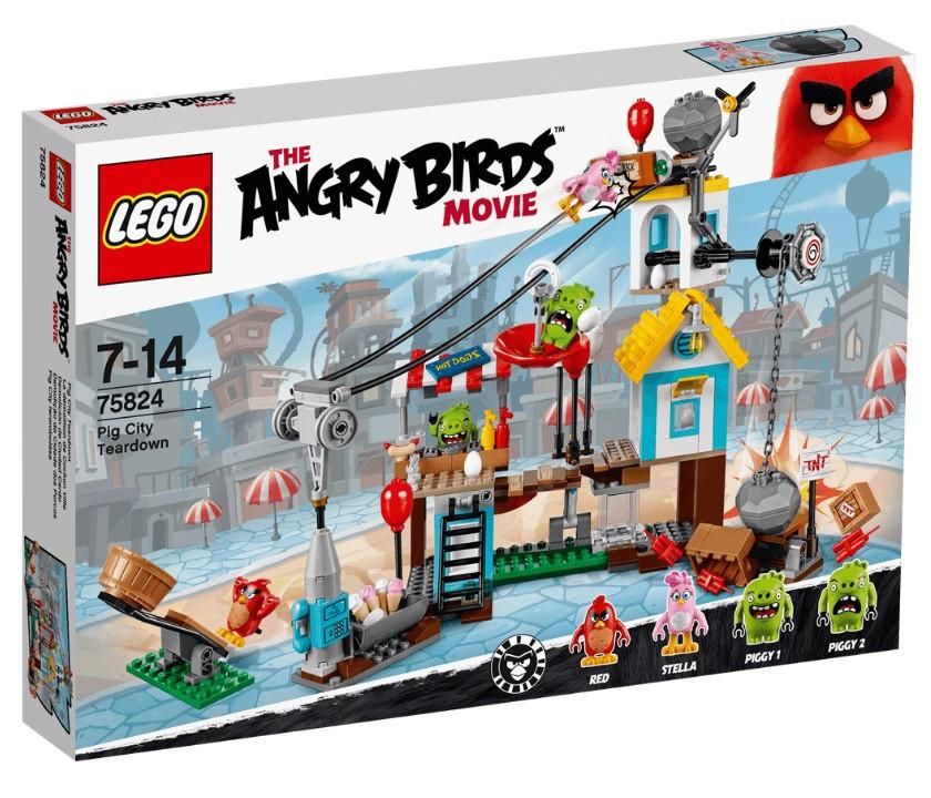 Lego Angry Birds Разгром Свинограда 75824