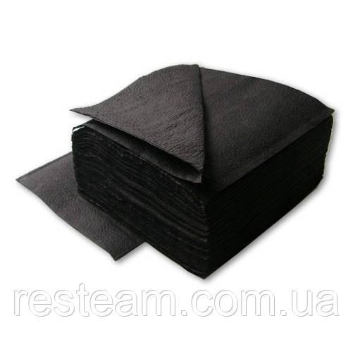 "Салфетка 24*24 черная 1 сл. 300 шт/уп ""Ruta Professional"""