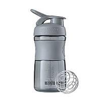 Спортивная бутылка-шейкер BlenderBottle SportMixer 590ml Grey (ORIGINAL), фото 1