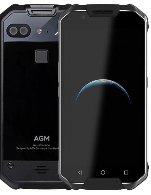 Защищенный телефон  AGM X2 6/64Gb Black Glass противоударный водонепроницаемый смартфон