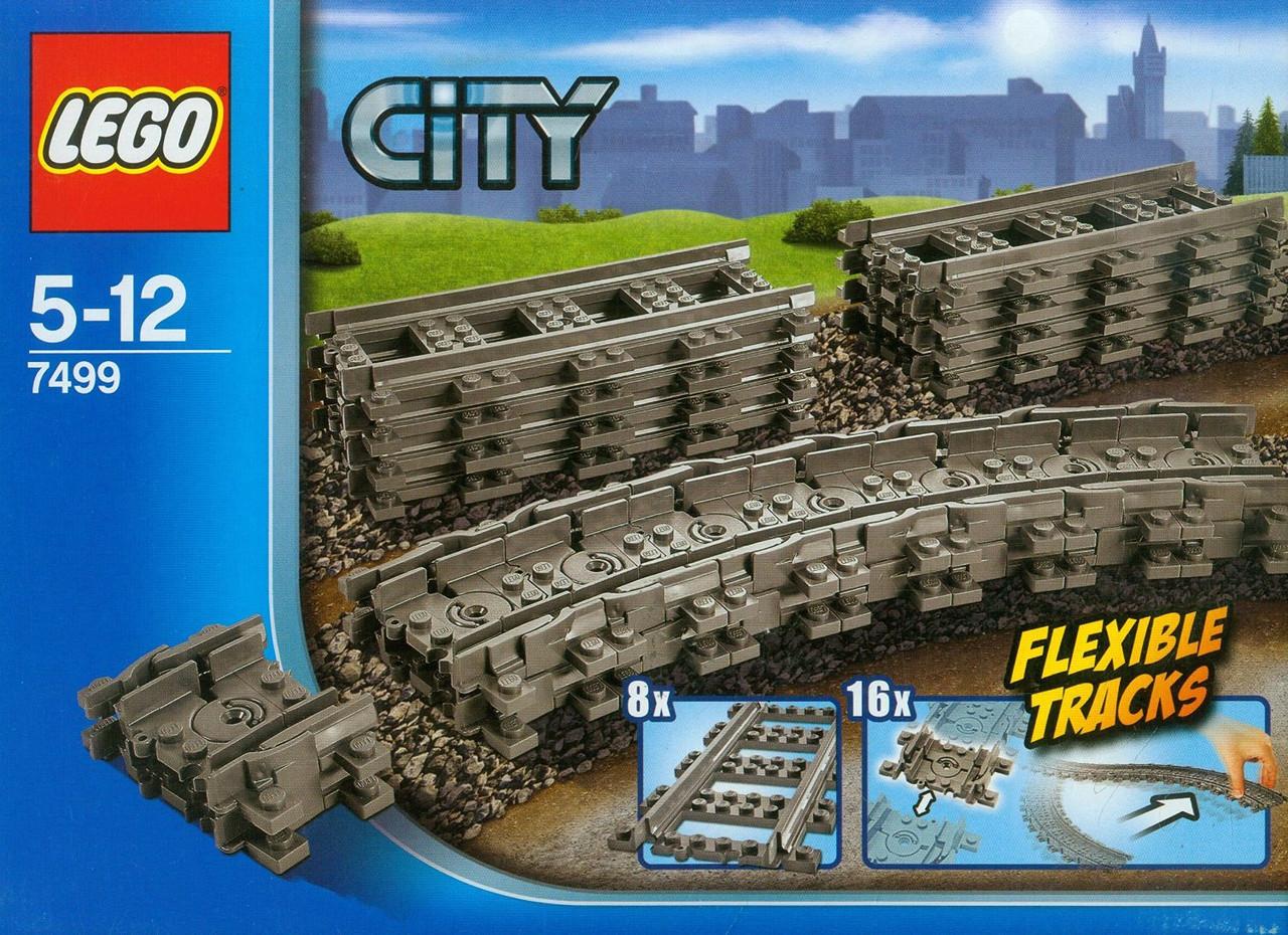 Детский Конструктор LEGO City Гибкие колеи 7499