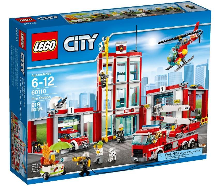 Детский Конструктор Lego City Пожарная часть 60110