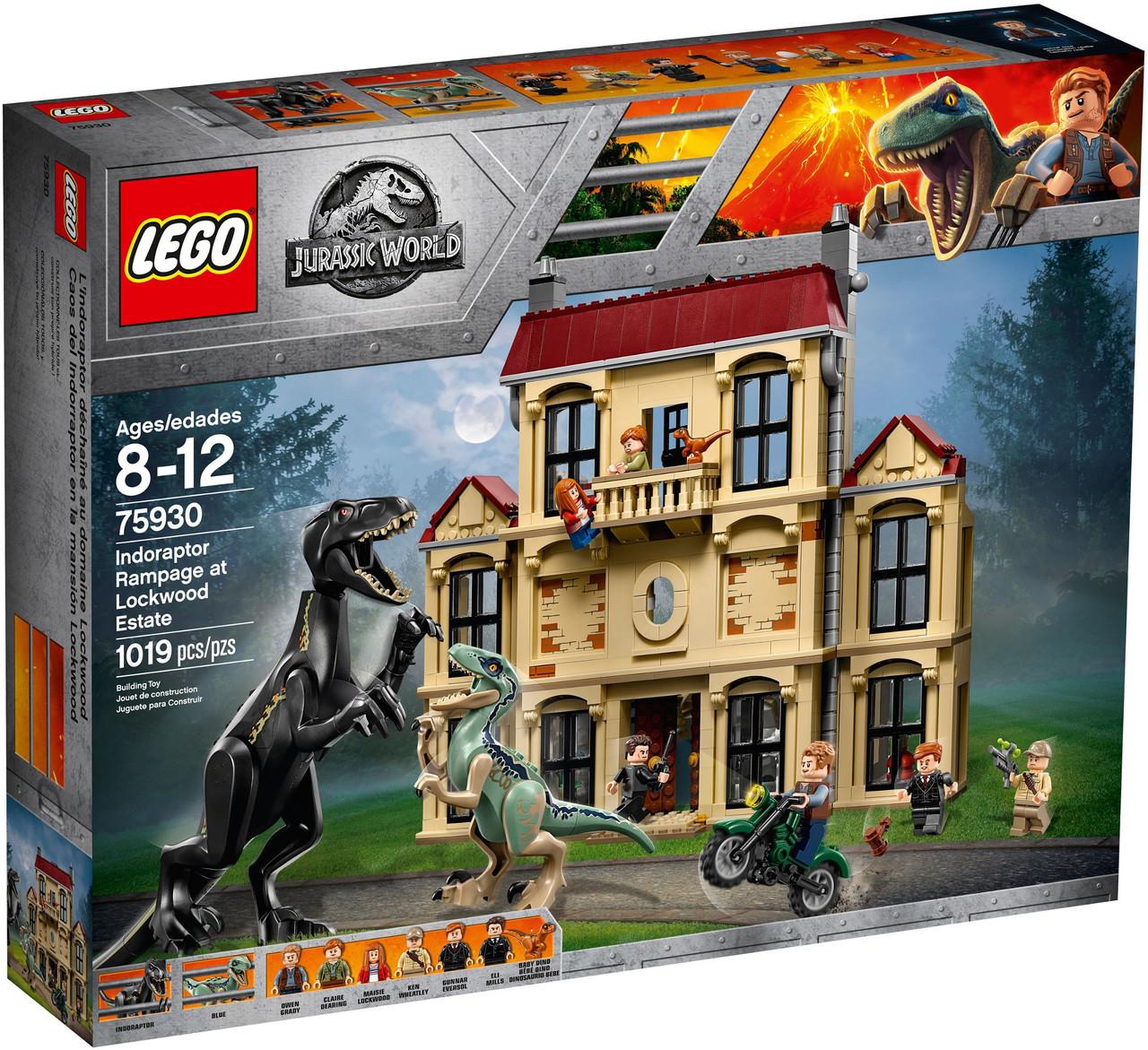 Lego Jurassic World Напад Индораптора в маєтку Локвуд 75930