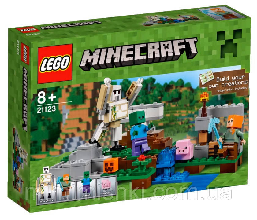 Детский Конструктор Lego Minecraft Железный голем 21123