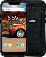 Защищенный телефон  Land Rover X3 black противоударный водонепроницаемый смартфон