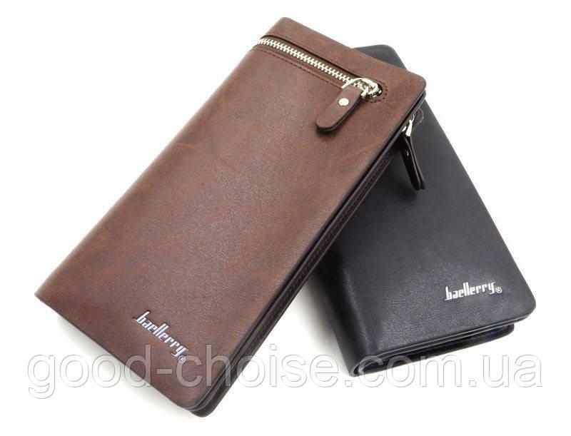 Мужское портмоне + Подарок / Клатч Baellerry Italia / Мужской кошелек (19,5 х 10 х 3 см)