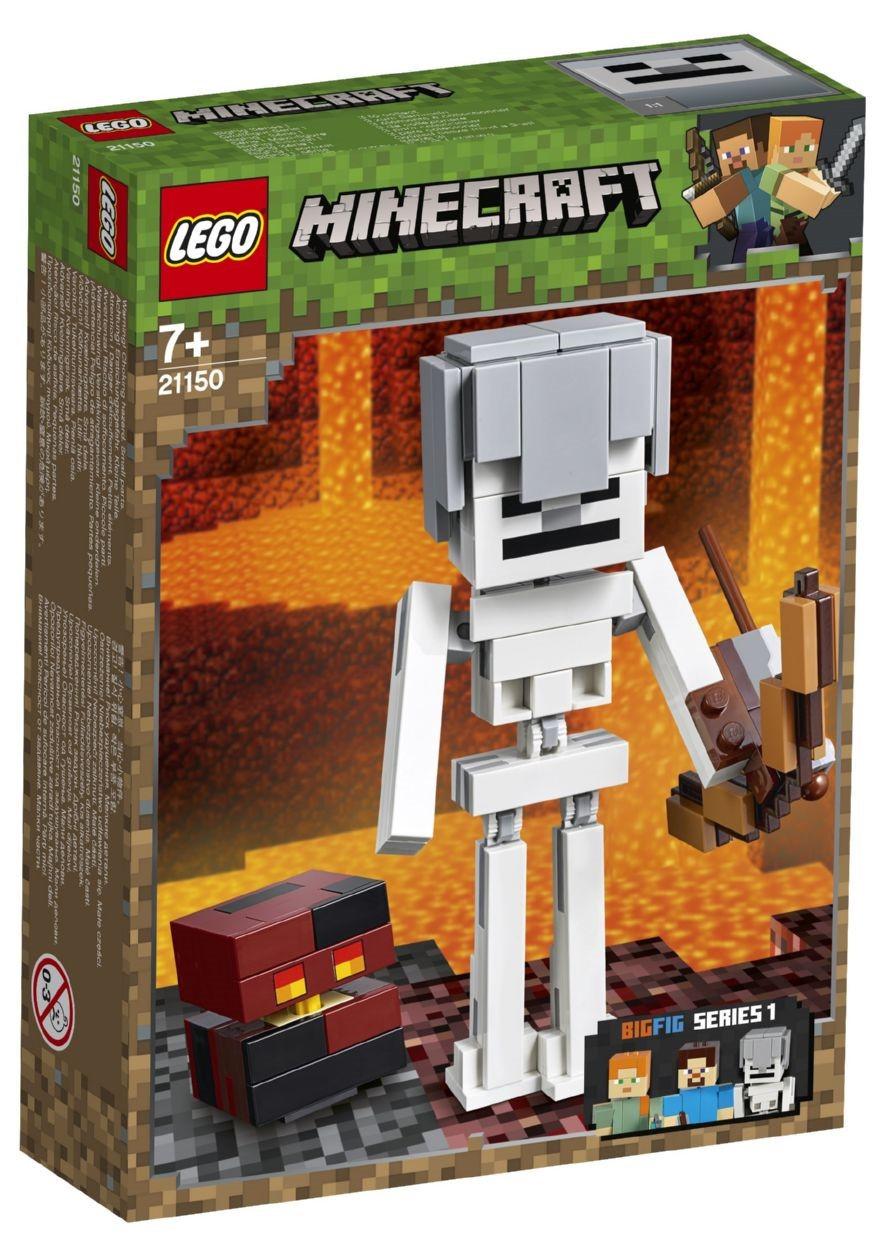 Детский Конструктор Lego Minecraft Скелет с кубом магмы 21150