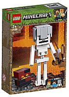 Lego Minecraft Скелет с кубом магмы 21150, фото 1