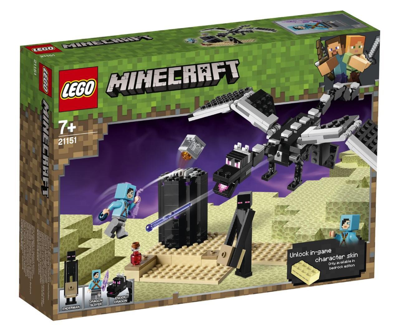 Детский Конструктор Lego Minecraft Последняя битва 21151