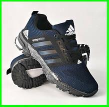 Кроссовки мужские Adidas Spring. Синие кроссовки Адидас Видео Обзор