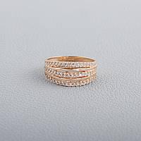 Кольцо золотое с фианитом КП1714