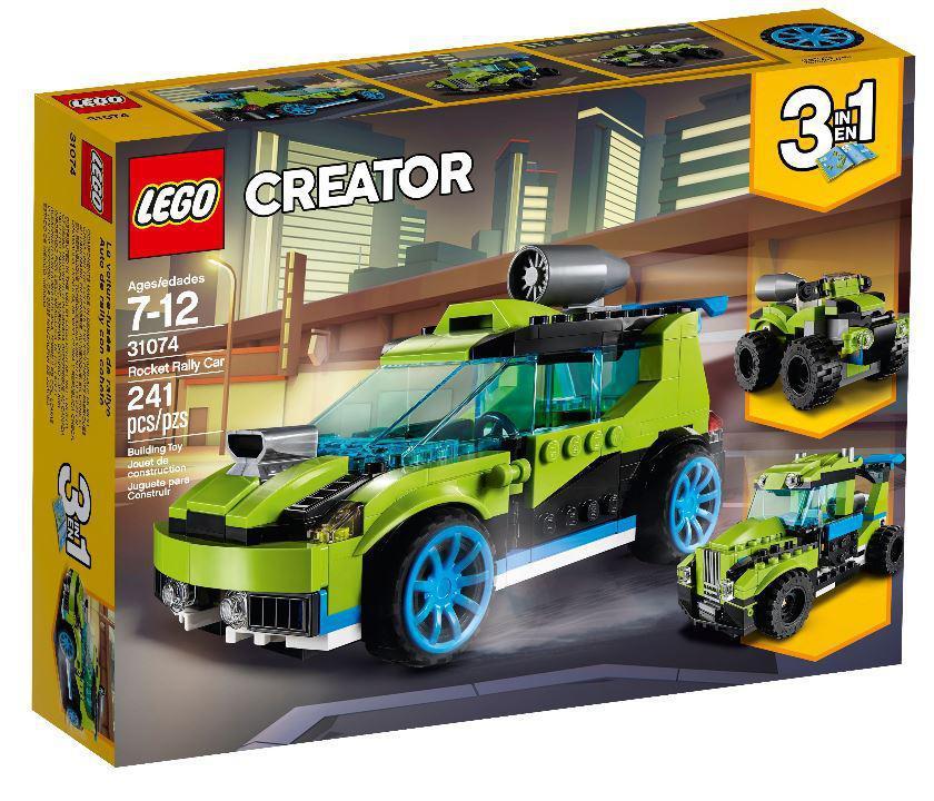 Детский Конструктор Lego Creator Гоночный автомобиль Ракета 31074