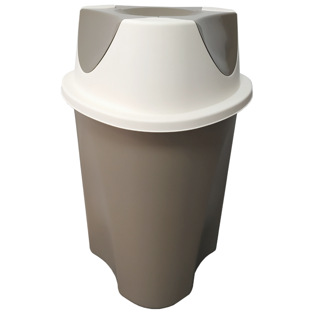 Ведро для мусора Planet Twist 23 л латте - крем
