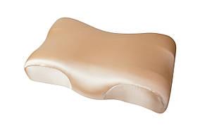 Ортопедическая подушка Beauty Balance от морщин сна и утренней отечности (MEMORY FOAM). шелк, бежевый