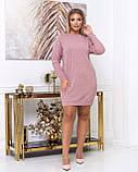 Платье из тонкой вязки полуприталенного кроя демисезонное, разные цвета р.48.50.52.54.56 Код Синтра, фото 4