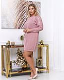 Платье из тонкой вязки полуприталенного кроя демисезонное, разные цвета р.48.50.52.54.56 Код Синтра, фото 2